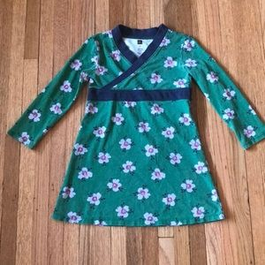 Tea Wrap Dress Green Floral